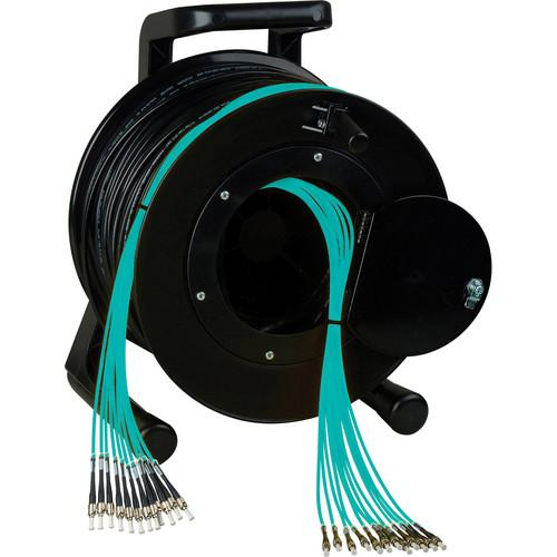 Camplex OM3 4-Ch Multimode Tactical Fiber LC Snake Cable Reel