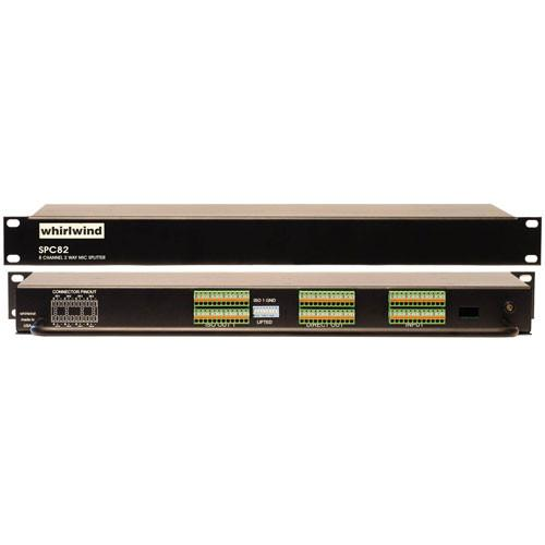 Whirlwind SPC82JT - 8-Channel Mic Splitter with Direct and Isolated Outputs and Jensen Transformers
