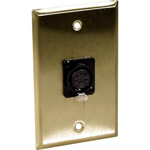 TecNec 1-Gang Brass Wall Plate with