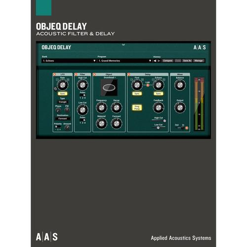 Applied Acoustics Systems Objeq - Delay
