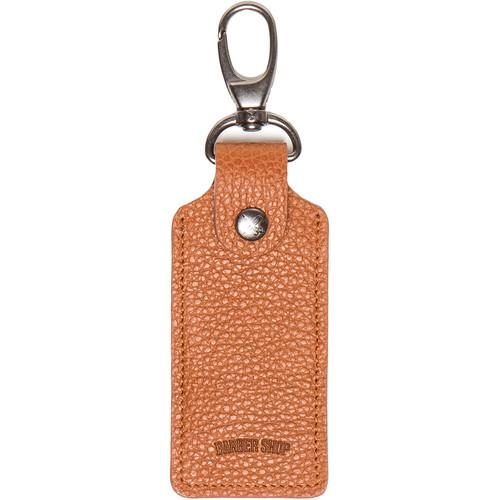 Barber Shop Clipper Leather Key Ring