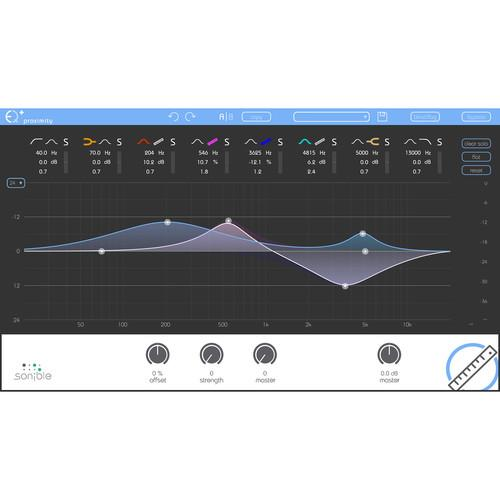Sonible proximity:EQ - Intelligent Equalization Software