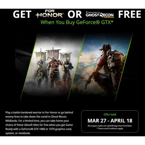 NVIDIA For Honor OR Ghost Recon: