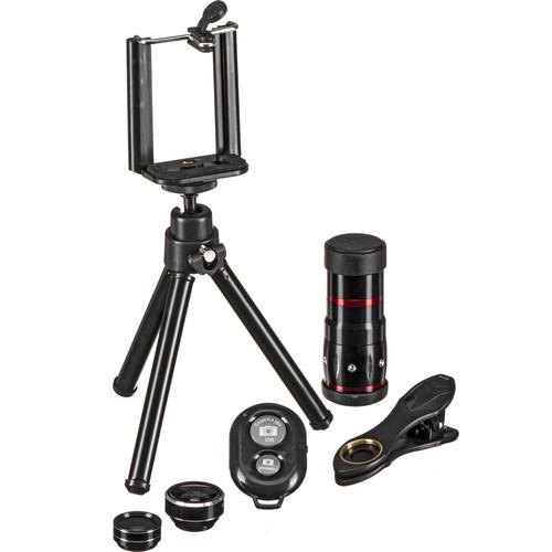 Apexel 5-in-1 Smartphone Lens Kit with