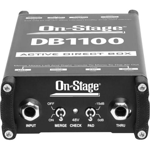 On-Stage DB1100 Active DI Box with