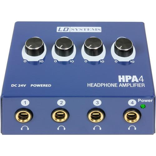 LD Systems Headphone Amplifier 4-Channel