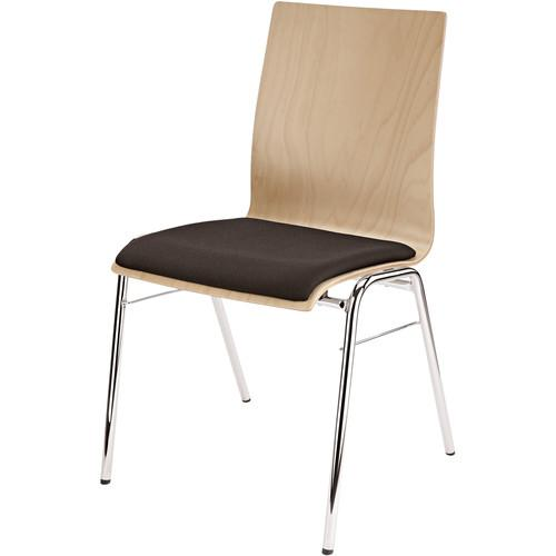 K&M Stacking Chair with Black Seat