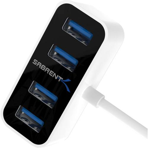 Sabrent 4-Port Mini Portable USB 3.0