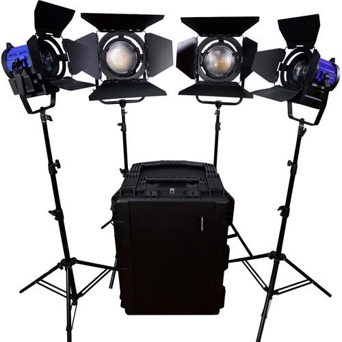 Dracast Led3500 Fresnel 4-Light Kit