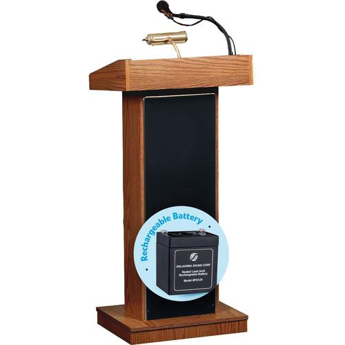 Oklahoma Sound Orator Lectern with Rechargeable
