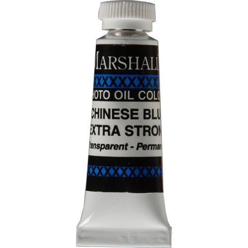 "Marshall Retouching Oil Color Paint Extra Strong: Chinese Blue - 1 2x2"" Tube"