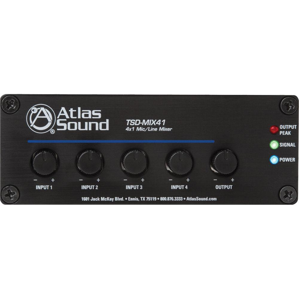 Atlas Sound TSD-MIX41 4x1 Mic Line Mixer