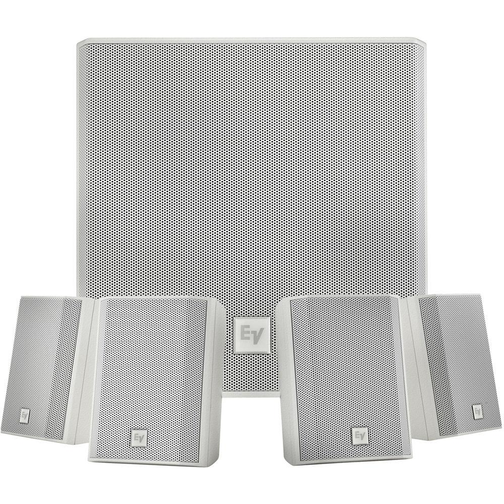 Electro-Voice EVID-S44W One Subwoofer and Four-Satellite Wall Mount Speaker System