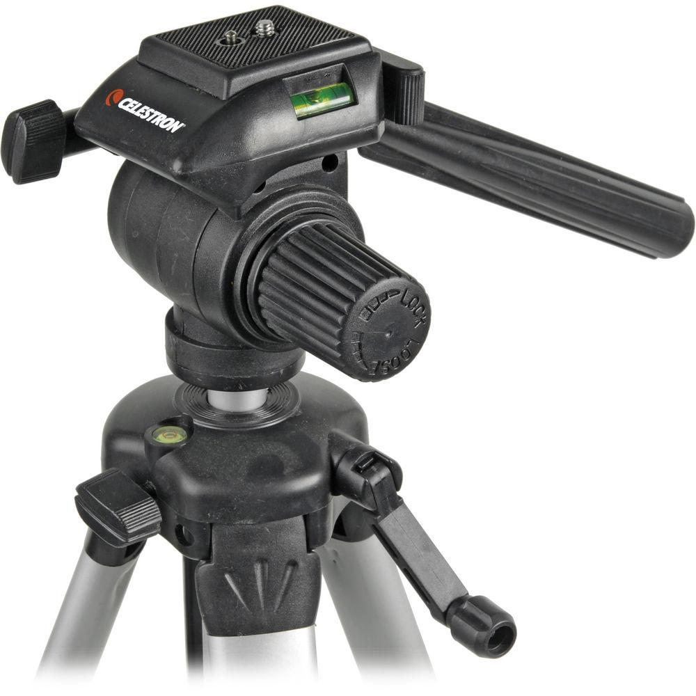 Celestron Photographic Video Tripod w Quick Release 3-Way Head