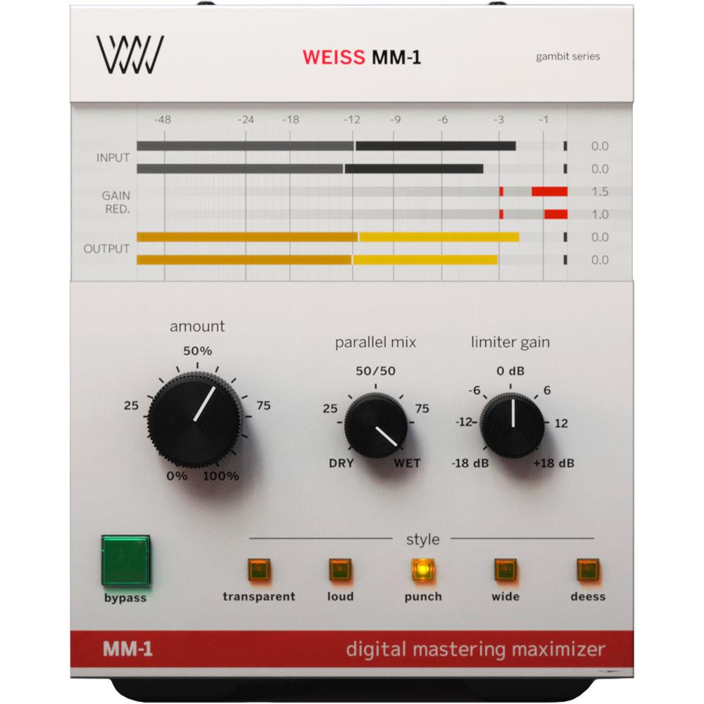 Softube Weiss MM-1 Mastering Maximizer - Software Limiter for Mixing and Mastering