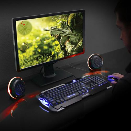 Accessory Power ENHANCE USB LED Gaming Speakers