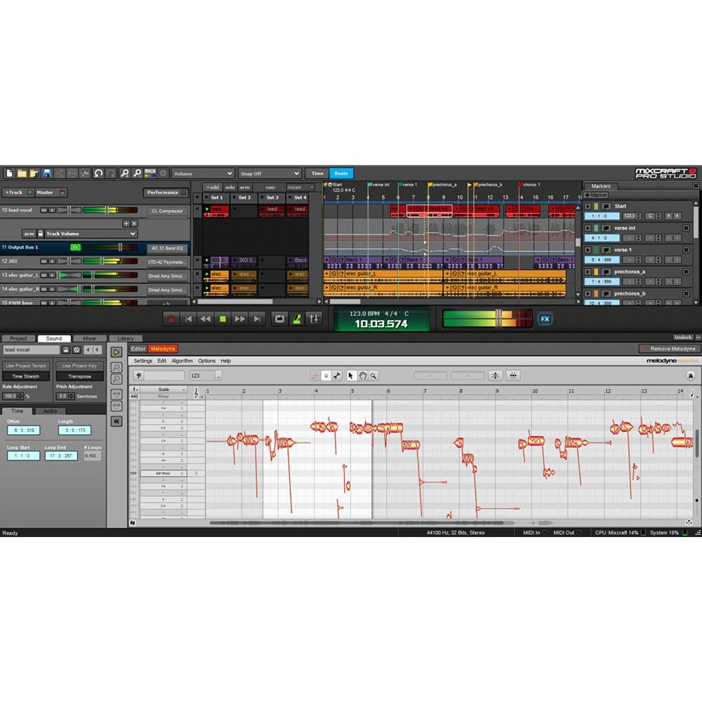 Acoustica Mixcraft 8 Pro Studio - Music Production Software