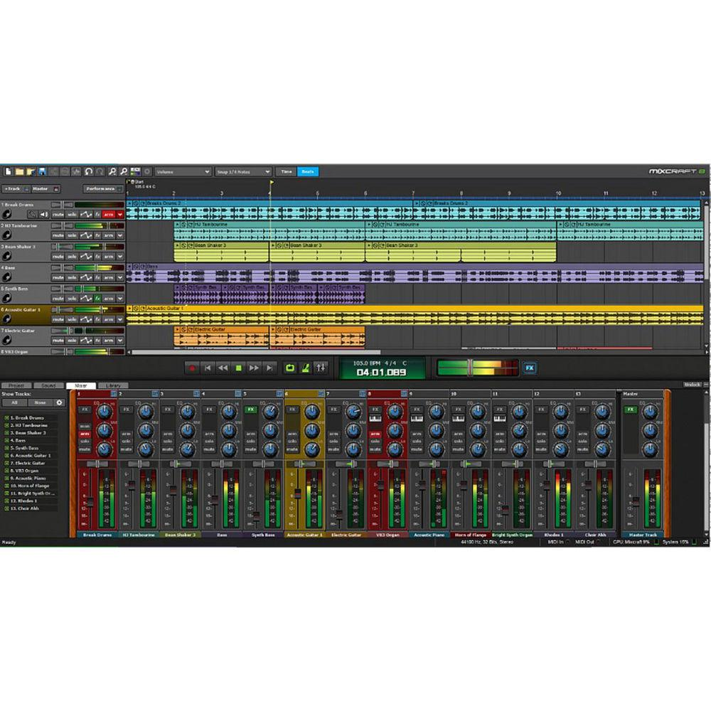 Acoustica Mixcraft 8 Recording Studio - Music Production Software